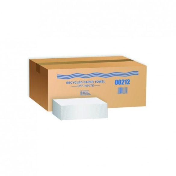 V hajtogatott kéztörlő - részben újrahasznosított - fehér (25x21 cm)