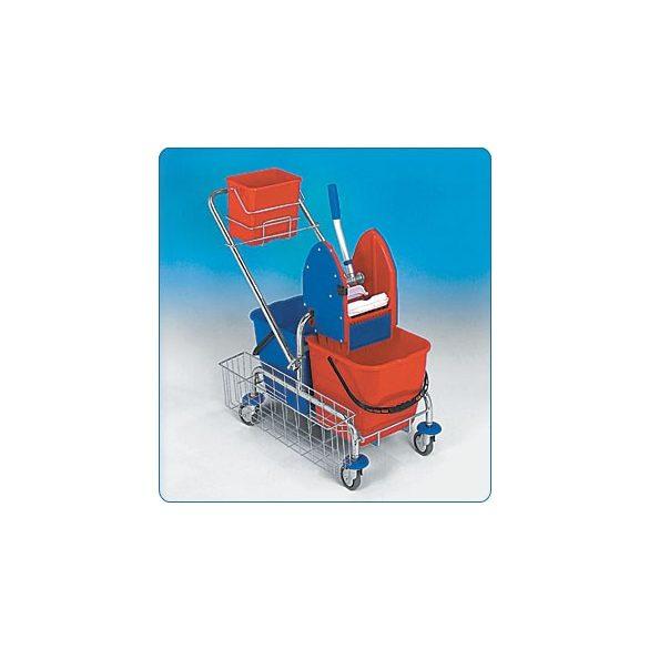 Takarítókocsi 2x17 liter (teljes felszereléssel)